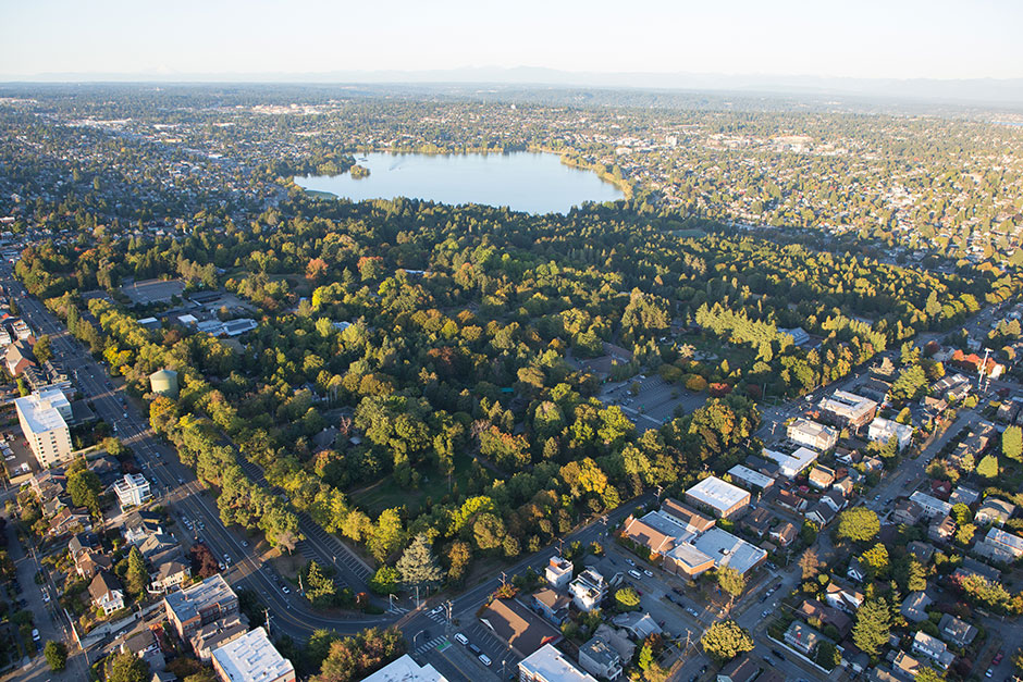 Aerial View of Woodland Park Zoo