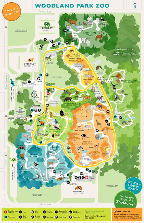 Guest Services Map Rentals & Accessibility Woodland Park Zoo