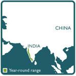 Macaque range map
