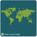 Pillbug range map
