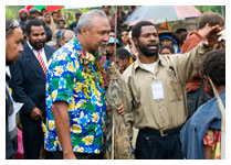 Danny Samandingke with Deputy Prime Minister of PNG, Dr. Puka Temu