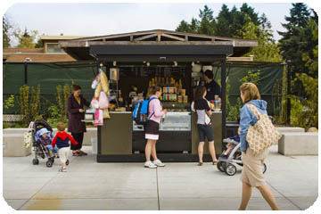 West Entrance coffee kiosk