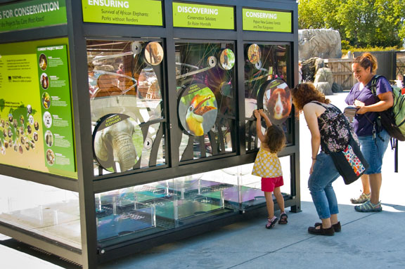 Quarters for Conservation kiosk