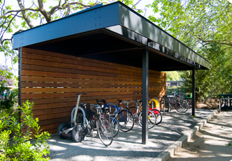 West Entrance bus shelter