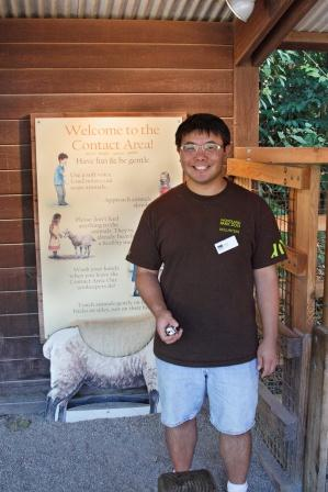 Volunteer at the zoo
