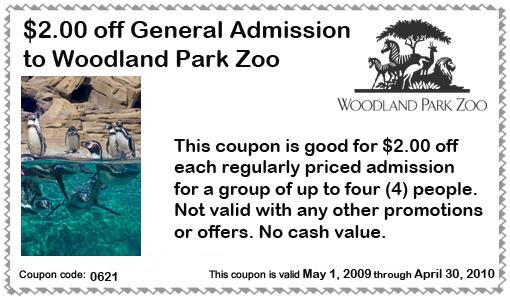 Woodland park zoo discount coupon