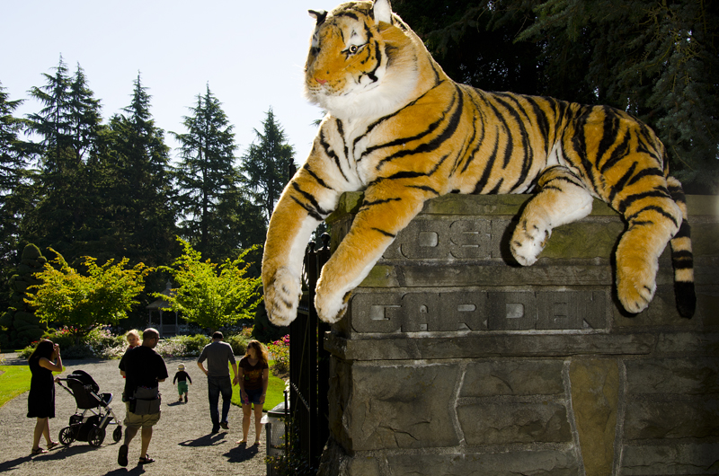 Life-sized tiger plush