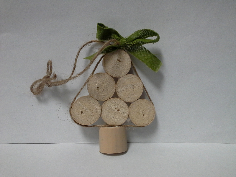 Cork Tree Holiday Craft